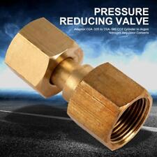 Gold Brass CO2 Cylinder Argon Regulator Converts Adaptor For CGA-320 to CGA-580