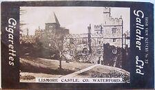 LISMORE CASTLE Cigarette Card GALLAHER IRISH VIEWS 37 County Waterford Ireland