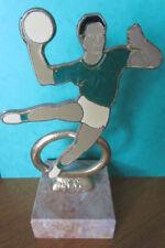 TROPHÉES récompenses - HAND BALL métal doré sur socle marbre - h. 17,5 cm  - TBE