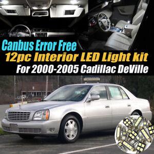 12Pc Error Free Interior LED White Light Kit for 2000-2005 Cadillac DeVille