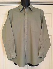 NEW Men's PIERRE CARDIN Olive Green Long Sleeve Shirt ~ Size 16