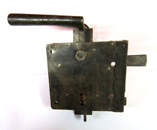 Original Antique Case Lock with Handles and Sign by 1890 Iron Sheet