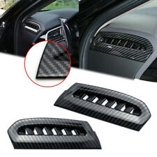 Carbon Fiber Side Console Air Vent Outlet Trim Cover For Toyota Camry 2018-2020