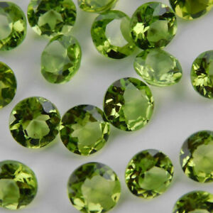 Wholesale Lot Natural Peridot 3x3 mm Round Cut Faceted Loose Gemstone A-01