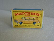 VINTAGE LESNEY MATCHBOX VAUXHALL VICTOR ESTATE CAR  No.38 BOX ONLY VERY NICE