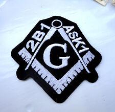 P3 Masonic Masons Iron On Patch G Geometry Freemason 2B1 Ask1 Compass Square