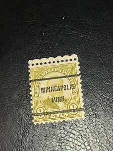 US 1926 Rotary Stamp 8c Grant Sc# 640 Precancel Minneapolis Minn. Used -#2416