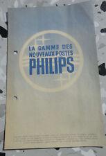 ancienne depliant publicite radio recepteurs philips