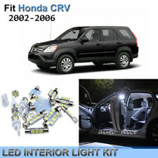 8x Xenon White LED Interior Lights Kit For 2002-2006 Honda CRV