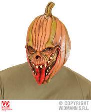 EVIL ZUCCA 3/4 Maschera Spettrali SPAVENTAPASSERI Halloween Fancy Dress accessorio