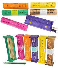 Wooden Incense Burner Incense Stick Holder Joss Stick Burner with 10 Joss Stick