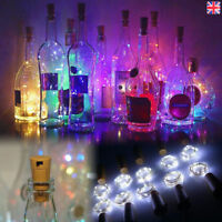 10x 20 LED Wine Bottle Lights Copper Wire for Christmas Halloween Table Decor SD