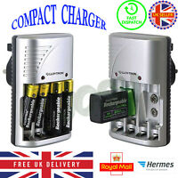 NEW Lloytron Mains Battery Charger for AA  AAA or 9V PP3 UK FREE DELIVERY