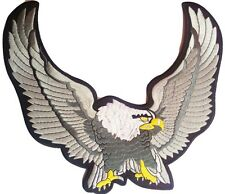 Embroidered iron on sew on large motorcycle eagle biker back patches badge 29 cm