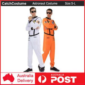 Astronaut Spaceman Pilot NASA Adult Flight Jumpsuit Camp Suit Book Week Costume