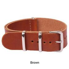 Watch Genuine Leather 18mm 20mm 22mm 24mm Black Brown Strap Wristwatch Band Belt