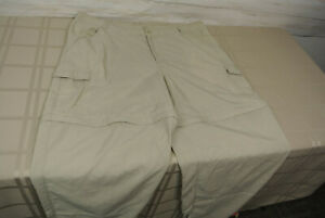 COLUMBIA PFG OMNI-SHADE XL Men CARGO Pants CONVERTIBLE Shorts Fishing Nylon