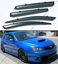 FOR 2008-14 SUBARU IMPREZA WRX STi CLIP-ON SMOKE TINTED WINDOW VISOR VENT GUARD