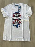 Adidas T-Shirt, 053820, Gr. L, G Heat Tee, weiss, mit Motiv,