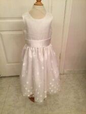 Muneca Flower Girl Communion Confirmation Dress Size 7 Muneca White