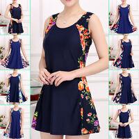 New Womens One Piece Swimwear Swimdress Beach Dress US Size 8 10 12 14 16 #1061