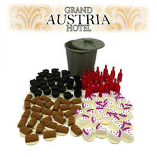 3D Dishes & Drinks tokens x120 + Promo Garbage Can- Grand Austria Hotel - Deluxe