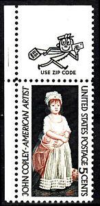 USA Mi Nr. 889 postfrisch MNH Ecke mit Zip Code John Copley Künstler Gemälde