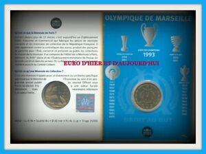 1 Euro 1/2 FRANCE 2011 BU sous blister Olympique de Marseille monnaie de paris