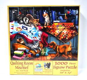 Quilting Room Mischief Jigsaw Puzzle 1000 Piece