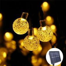 30 ft Crystal Ball Solar Power LED String Lights - Outdoor