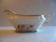 Vintage Old Holland USA Ware Yellow Roses Orange Poppy Floral Gravy Boat