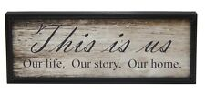 This Is Us Rustic Framed Print Farmhouse Family Welcome Decor Sign Shelf Sitter