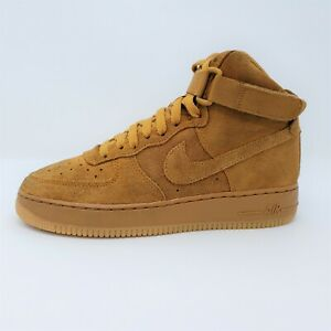Nike Air Force 1 LV 8 High Top Wheat Basketball Shoes Sneakers Sz 7Y 807617-701