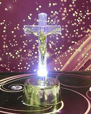 Kreuz LED  mit Batterie Licht Kaltweiß Höhe 16 cm KW-MP-995