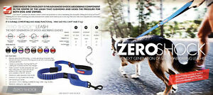 EZY-DOG ZERO SHOCK LEAD. COMFORT FOR DOG AND OWNER A Choice Of Colours and Sizes