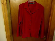 "Womens Briggs New York Size 16 Red Long Sleeve Shirt / Jacket "" BEAUTIFUL ITEM """