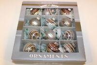 "Christopher Radko SHINY BRITE Christmas Ornaments Glitter Bulb Silver Gold 2"""