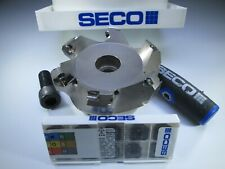 "NEW SECO R220.53-03.00-12-6A 3"" FACE MILL MILLING BOX 10 SEMX CARBIDE INSERTS"