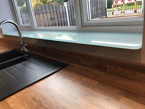 Toughened glass window cill boards / window sill ledges