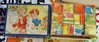 Ancienne boîte de cube maternelle jeu éducatif par l'image Suède la Ferme Oie