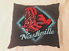 Retro Vintage T Shirt Nashville Re-purposed Pillow* Country Chris Stapleton Rock