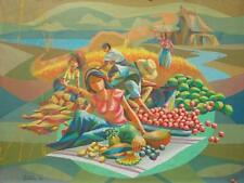 Harvest with Lady 18x24 Art Philippines Oil Painting