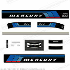 Mercury 1976 -1977 20hp Outboard Decal Kit - Discontinued Decal Reproductions!