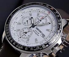 Seiko Uomo piloti Solare Allarme Cronografo ssc013p1 Garanzia, Scatola, RRP: £ 300