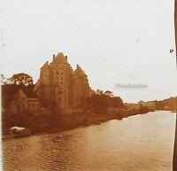 Francia Solesmes Abbaye Foto Stereo PL32P1n Placca Da Lente Vintage