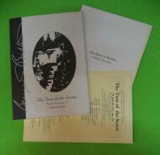 Book libro THE TURN OF THE SCREW Il giro di vite op.54 Benjamin Britten (L1)