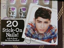 1D One Direction Stick on Nails Zayn Nail Decorations, 20 Faux Fake Nails