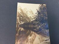 Vintage 1920s Grand Teton National Park Photo Wyoming Sepia Crandall  Jenny Lake