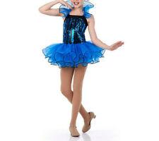 Adult Large RITZY Jazz Tap Ballet  Dance Costume Blue