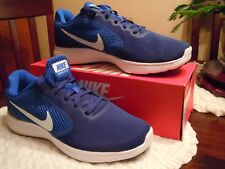 2d840514e8401 NIKE REVOLUTION 3 BLUE AND WHITE TRAINING SNEAKER SHOE SIZE 8  819300-407